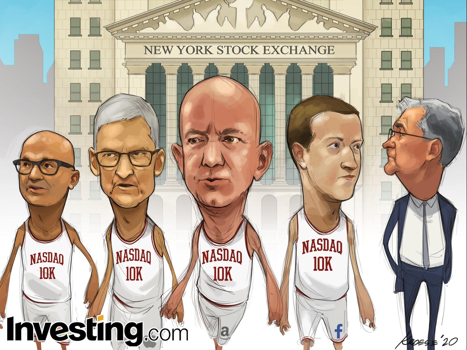 Компании FAANG возглавили ралли NASDAQ