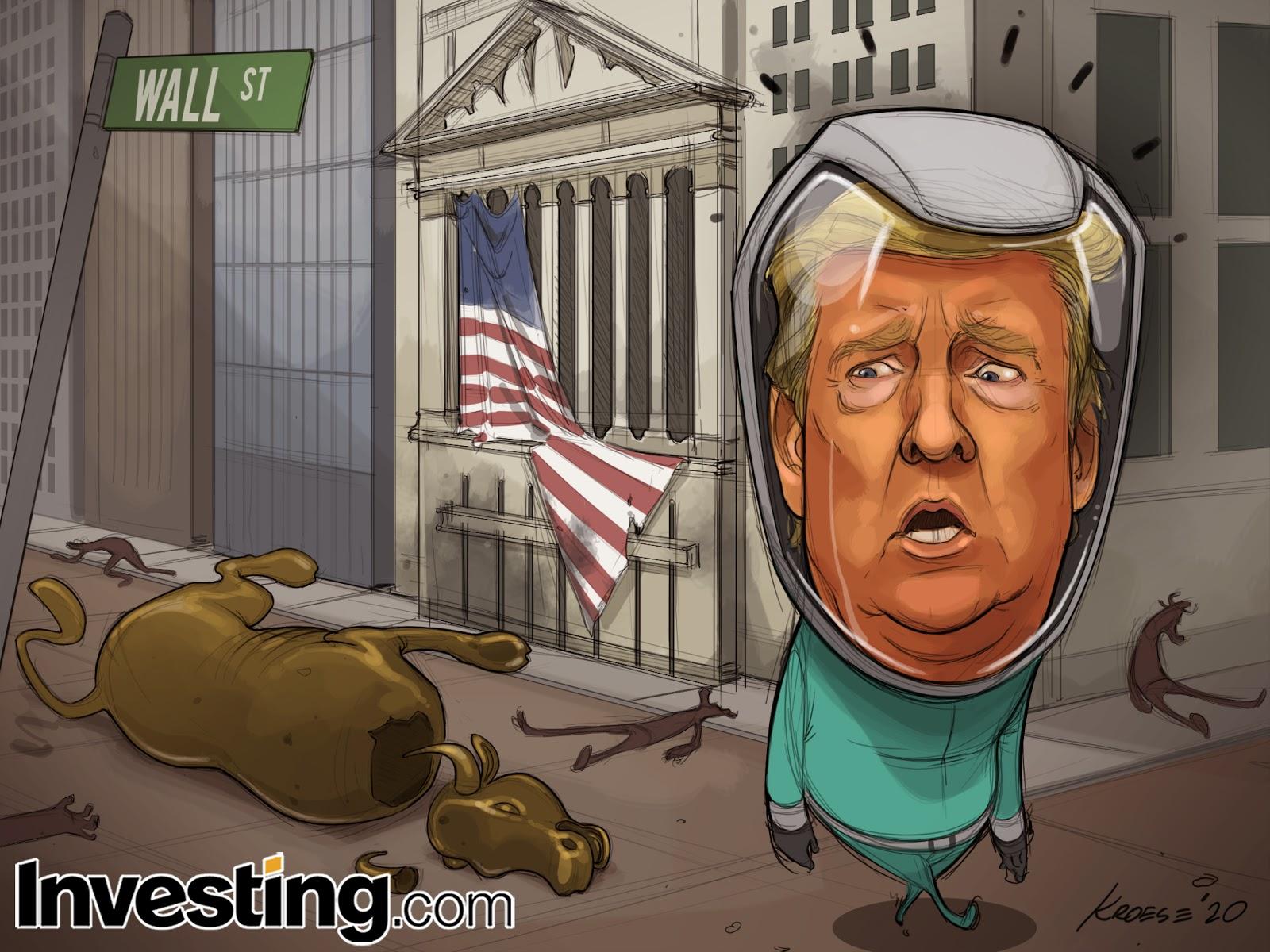 Рынок упал, Нью-Йорк в локдауне