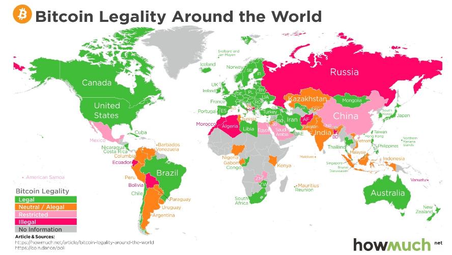 Bitcoin Legality Around the World